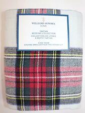 NWT $99 WILLIAMS SONOMA HOME Classic STEWART Tartan Linen Blend KING Sham