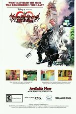 Square Enix * Disney * KINGDOM HEARTS 358/2 Days NINTENDO DS video game print ad