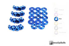 Dress Up Bolts for 05-09 Ford Mustang Blue Ti Titanium Partial Engine Bay Kit