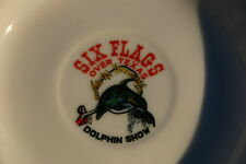 Vintage Six Flags Over Texas Dolphin Show Saucer - Made in Japan