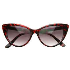 Gafas de sol de mujer ojos de gato rojo de plástico