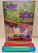 25 Pks Juicy Jays Grapes Gone Wild Hemp Wraps 2 Per PK & 2 Buddies Torpedo Tube