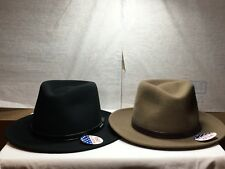 New / Tag Stetson Cruiser WOOL Men's Hat crushable MADE IN U.S.A BLACK- CAMEL