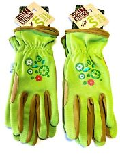 Women's Work Glove Gardening Dirty Work Synthetic Leather Palm 2 Pairs -Green