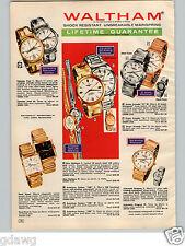 1966 PAPER AD 5 PG Waltham Wrist Watch 100 Jewel Autochron Century Calendar Bond