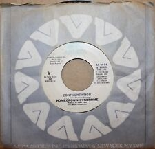 HOMEGROWN SYNDROME **CONFRONTATION** Modern Soul 45 on ARISTA 0594 PROMO COPY