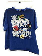 Angry Birds T Shirt The Bird Is The Word Size XL