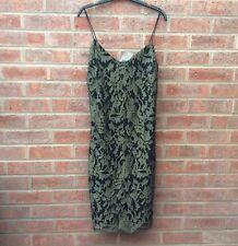 Lauren Ralph Lauren gold & black lace cocktail dress UK size 6