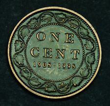 1908-1998 Canadian 1¢ sterling silver  90th anniversary antique finish