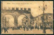 Verona città Portoni di Piazza Vittorio Emanuele Tram cartolina VK4500