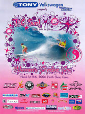 Mint Condition Original 2006 Women Pipeline Pro Hawaii Surfing Contest Poster