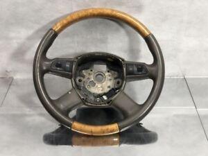 D3 Audi A8 Multi Function Woodgrain Steering Wheel W/ Paddle Shifters