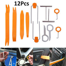 12 PCS Car Radio Door Clip Panel Trim Dashboard Audio Removal Pry Tool Key Kit