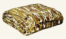 Patch NYC at Target Throw Afghan Green White Brown Long Fringe 50 in x 60 in