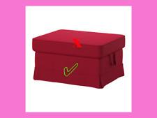 Ikea EKTORP Footstool BOTTOM SKIRT Slipcover Cover ONLY NORDVALLA RED 803.222.66