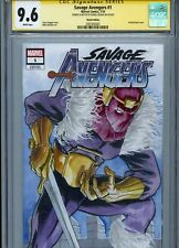 BARON ZEMO Sketch cover art by DANIEL GOVAR CGC SS 9.6 Marvel Disney Avengers