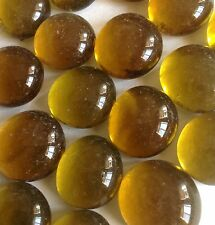 "Glass Gems or Nuggets 3/8"" Coffee 1 LB 110 PCS N42"
