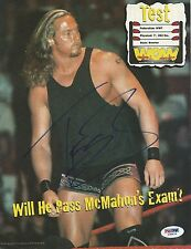Test Andrew Martin Signed 8x10 Magazine Photo Psa/Dna Coa Wwe Picture Autograph