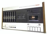 PHILIPS N2407 Stereo Cassette Deck Vintage 1974 Refurbished Working Good Look