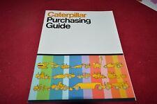 Caterpillar Purchasing Guide Featuring D9H Crawler Dealer's Brochure RPMD