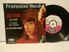 """francoise hardy""""c'est a l'amour..""""ep7""""or.fr.vogue:epl8047.biem de1962 languette."""