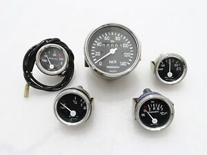 NEW WILLYS JEEP COMPLETE SPEEDOMETER WITH MECHANICAL TEMP GAUGE #G442 @PUMMY