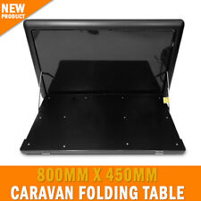 800mm X 450mm Caravan Folding Table Surface Mount Black Outdoor Picnic RV Camper
