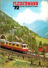Fleischmann catalogo di 1972, traccia h0+n e le macchine a vapore/d507