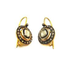 Beautiful Handmade 925 Sterling Silver Victorian Diamond Earrings For GIFT