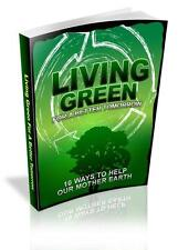 Living Green Ebook On CD $5.95 Plus Resale Rights Free Shipping