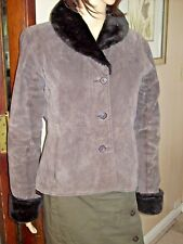 Pacific Rose Womens Suede Jacket Size M Brown RE@lly Cute!