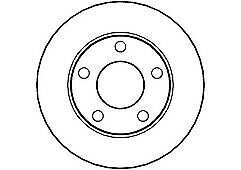NATIONAL NBD710 PAIR OF REAR BRAKE DISCS FOR AUDI A4 AND VOLKSWAGEN PASSAT