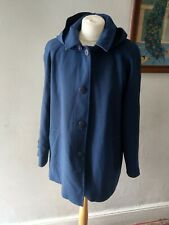 VINTAGE RETRO WOMENS UNIQUE STUNNING FLATTERING LINED HOODED JACKET COAT SIZE 16