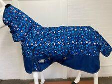 AXIOM 1200D RIPSTOP FANCY STAR / BLUE 220gm PADDOCK COMBO HORSE RUG - 6' 3