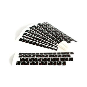 Quality laptop keyboard stickers, Cyrillic/ Bulgarian, US black mat 12.5 x 14 mm