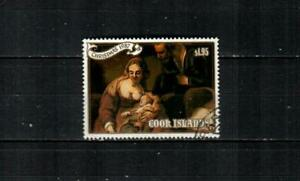 COOK ISLANDS Scott's 995 ( 1v ) Holy Family, Rembrandt F/VF Used ( 1987 ) #2