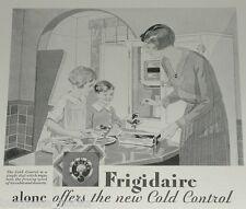 1929 Frigidaire refrigerator advertisement, early electric icebox