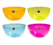 Round Plastic Salad Fruit Vegetable Serving Bowl Pack Of 2 (Orange) New