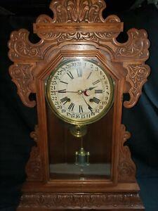 Shelf Clock, Waterbury Kitchen, Calendar Clock, all on face, #86 W/No Reserve