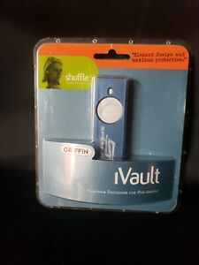 NEW Griffin iVault Metal Jacket for Ipod Shuffle silver/blue FREE FAST SHIPPING!