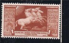 Italia Regno: AUGUSTO 1937, POSTA AEREA 80 CENT NUOVO LINGUELLATO LUSSO