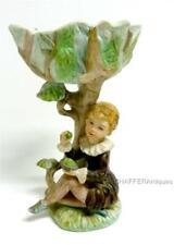 More details for wonderful c 1940s bisque porcelain figurine vase of a boy