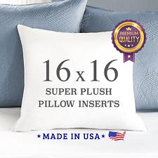 "16 x 16"" Down Alternative Throw Pillow Inserts Square Form Insert Sham Stuffing"
