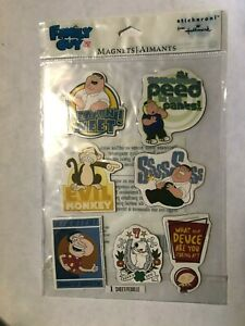 Hallmark Magnets Family Guy 1 sheet of 7 NEW (B34)
