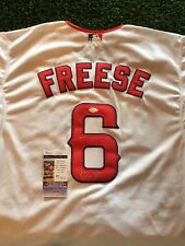 DAVID FREESE LOS ANGELES ANGELS White SIGNED Jersey JSA/COA
