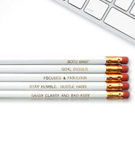 Boss Babe - Inspirational Pencils Engraved With Funny And Motivational Sayings