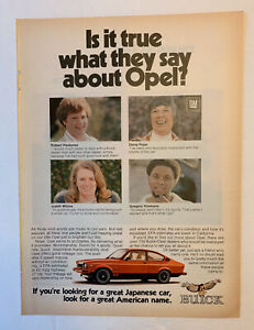 1978 Buick Opel Print Ad Original Vintage Is It True What They Say About Opel