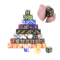 10pcs 6 Side 12mm Acrylic Cube Round Corner Table Playing Games Drinking Dice