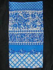 BLUE WILLOW, Cotton Kitchen Tea Towel, Blue White ,Chinoiserie Decor
