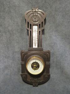 Jugendstil Barometer C. Beuleke Thermometer Wetterstation